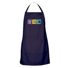 Peace, Love, Books Apron (dark)