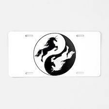 Yin Yang Unicorn Aluminum License Plate