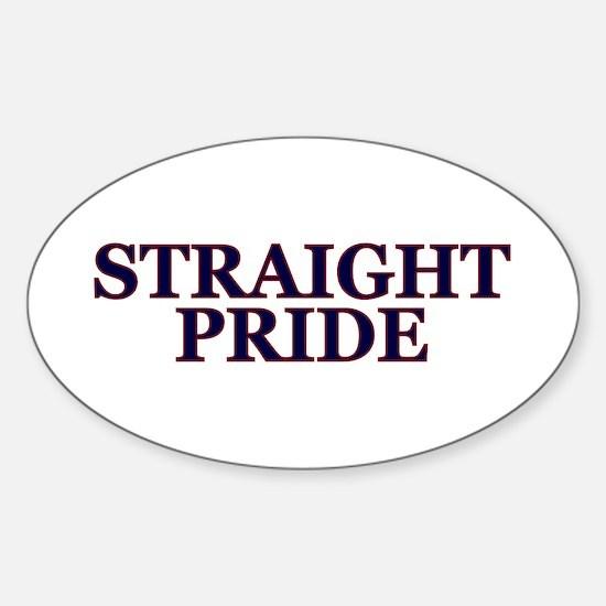 Proud Straight Pride Sticker (oval)