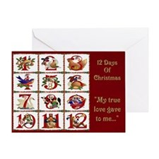 12 Days Of Christmas Greeting Cards