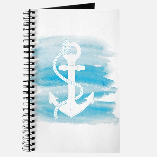Watercolor Anchor Journal