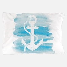Watercolor Anchor Pillow Case