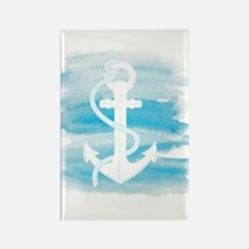 Watercolor Anchor Rectangle Magnet