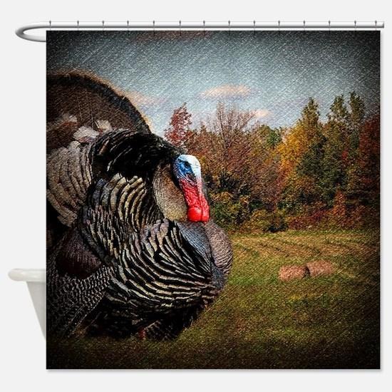 autumn landscape country turkey Shower Curtain