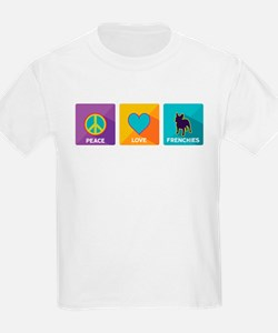 Peace, Love, Frenchies T-Shirt