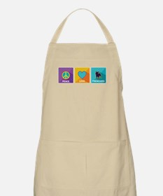 Peace, Love, Frenchies Apron