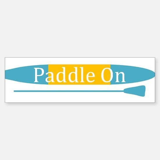 Paddle On Bumper Bumper Bumper Sticker