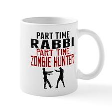 Rabbi Part Time Zombie Hunter Mugs