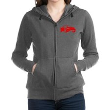 NB Red Women's Zip Hoodie
