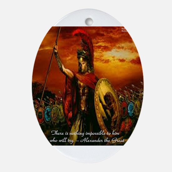 Alexander The Great Ornament (Oval)
