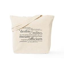 Desilite Milites (black) Tote Bag