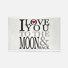 Love You to the Moon Rectangle Magnet