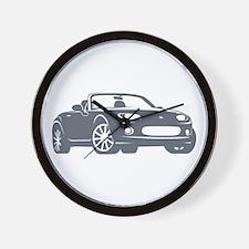 NC 1 Gray Miata Wall Clock