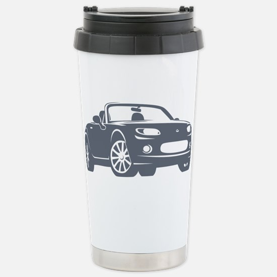 NC 1 Gray Miata Stainless Steel Travel Mug