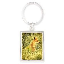 nature wildlife red fox Portrait Keychain