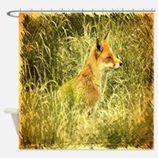nature wildlife red fox Shower Curtain