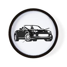 NC 1 Black Miata Wall Clock