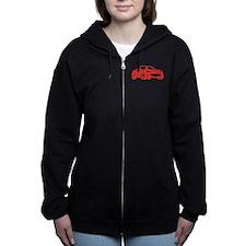 NC 2 Red Miata Women's Zip Hoodie