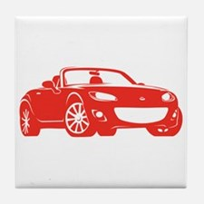 NC 2 Red Miata Tile Coaster