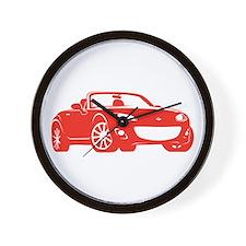 NC 2 Red Miata Wall Clock