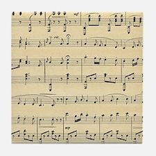 Antique Sheet Music Tile Coaster