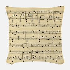 Antique Sheet Music Woven Throw Pillow