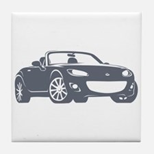NC 2 Gray Miata Tile Coaster