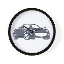 NC 2 Gray Miata Wall Clock