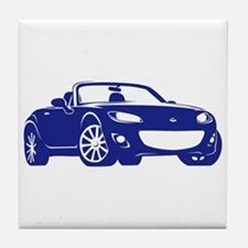 NC 2 Blue Miata Tile Coaster