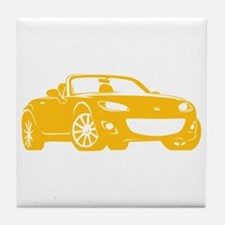 NC 2 Yellow Miata Tile Coaster