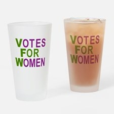 Funny Suffragette Drinking Glass