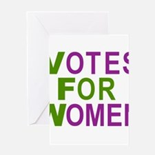 VOTES FOR WOMEN Greeting Cards