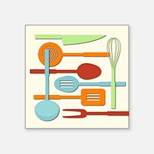 Kitchen Utensil Sil Col/Crm iii Sticker