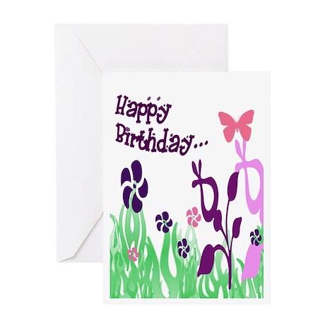 Whimsical Happy Birthday Greeting Card