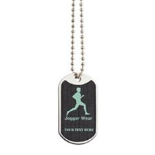 Personalized Jogger Wear Dark Fabric Mint Dog Tags