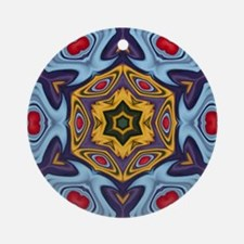 new age tibetian pattern Round Ornament