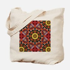yellow sun tribal flames  Tote Bag