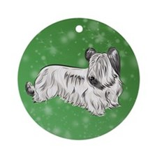 Skye Terrier (Cream) Ornament (Round)