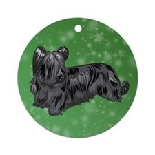 Skye Terrier (Black) Ornament (Round)