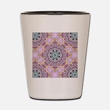 pink bohemian floral mandala Shot Glass