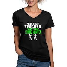 Teacher Part Time Zombie Hunter T-Shirt