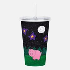 Floid at night Acrylic Double-wall Tumbler
