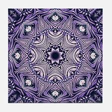 romantic bohemian purple mandala Tile Coaster