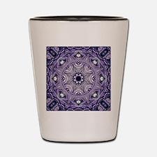 romantic bohemian purple mandala Shot Glass