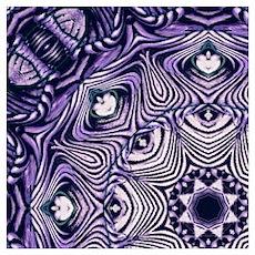 romantic bohemian purple mandala Poster