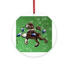 Portuguese Water Dog (Brown) Ornament (Round)