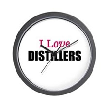 I Love DISTILLERS Wall Clock