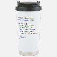 Eat, Sleep, and Code Re Travel Mug