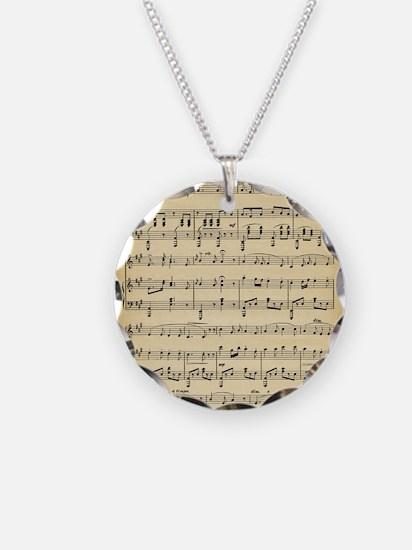 Antique Sheet Music Necklace