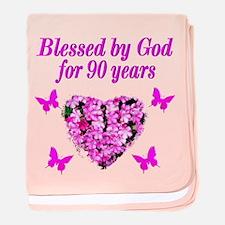 CHRISTIAN 90 YR OLD baby blanket